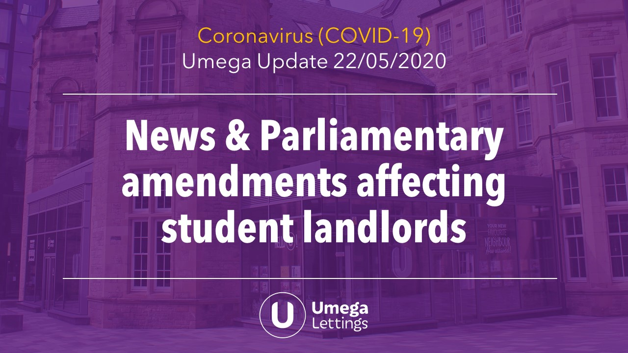 News & Parliamentary Amendments Affecting Student Landlords