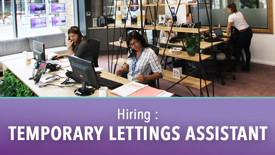 Hiring : Temporary Lettings Assistant