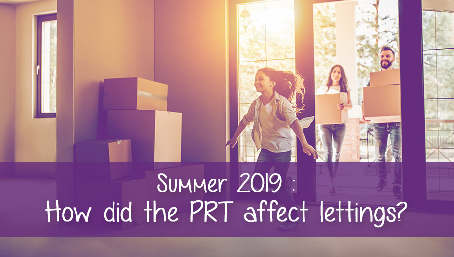 The effect of the PRT on summer tenant move-ins