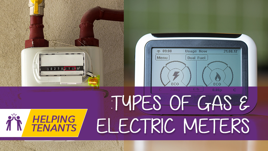 Helping tenants - Types of gas & electric meters