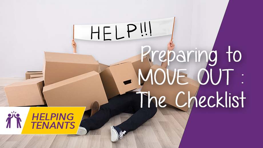 Helping tenants: Preparing to Move out