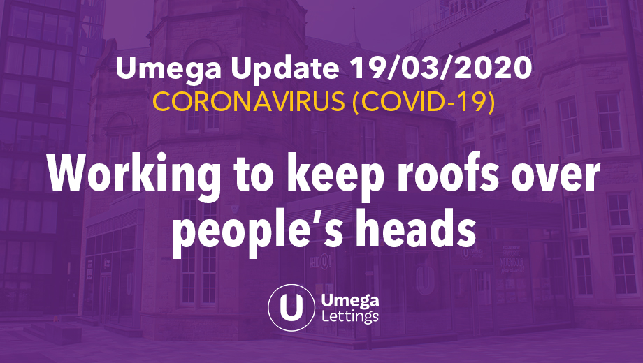 Umega Update 19/03/20 - Working to keep roofs over people's heads