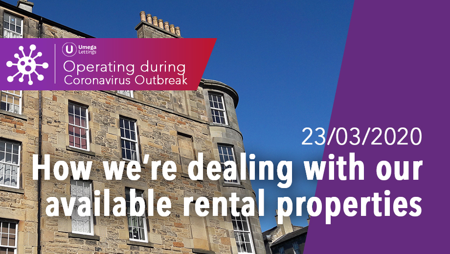 How we're dealing with our available rental properties