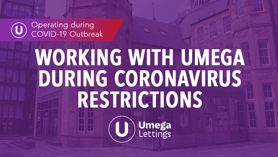 Working with Umega during Coronavirus restrictions