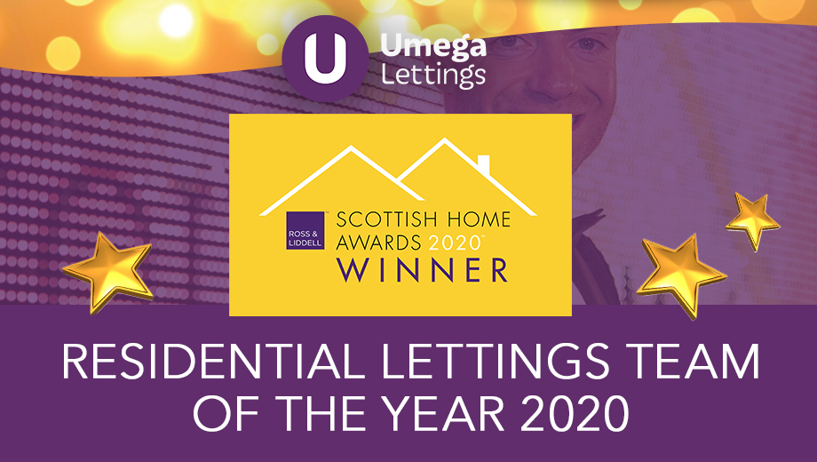 Umega Awarded Residential Lettings Team of the Year 2020 at the Scottish Home Awards